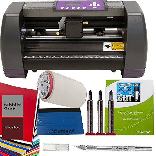 14'' Craft Vinyl Cutter USCutter MH BUNDLE - Sign Making Kit w/Design & Cut Software, Supplies Tools by USCutter