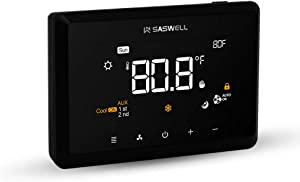 SASWELL T29UTW-7 Touchscreen 7-Day Programmable Thermostat (Not including accessories)