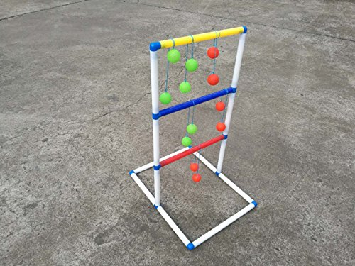 FixtureDisplays Ladder Toss Game Set with 6 Bolos Backyard Family Kid Games 16856 by FixtureDisplays