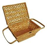 """Wald Imports Brown Woodchip 14"""" Picnic Basket"""