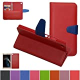 Huawei P8 Max Case,Mama Mouth [DETACHABLE Feature] Folio Flip Hard Case [Stand View] Premium PU Leather [Wallet Case] With Built-in Media Stand ID Credit Card / Cash Slots and Inner Pocket Cover For Huawei P8 Max, Red