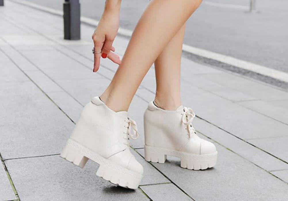 13cm Heel Wedge Heel 13cm Martin Stiefel Ankle Stiefelie damen Fashion Round Toe Cross Straps Platform Schuhe Casual schuhe Eu Größe 34-39 bf8288