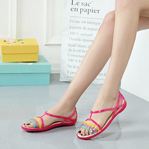 CHENYANG Confortable Chaussures Femme Anti Flat D'été Sandales Sandales Pantoufles Soft Rose Dérapant rxraqAn