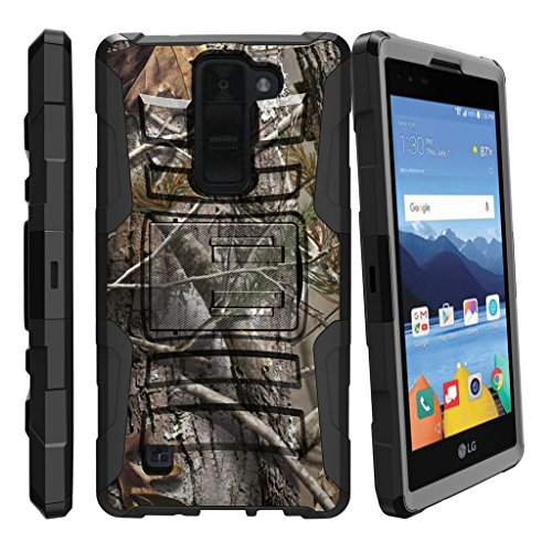 Click to buy [LG K8V Case (Verizon) VS550][Clip Armor]- Hard Rugged Shell, Silicone Bumper with Kickstand and Holster by MINITURTLE - Hunters Camouflage - From only $11.49