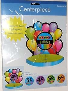 Happy Birthday Balloons Honeycomb Centerpiece