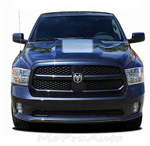 ram hood 2009 2017 dodge ram solid center hood vinyl. Black Bedroom Furniture Sets. Home Design Ideas
