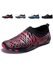 LeKuni Chaussures Aquatiques Homme Femme Chaussures de Plage Yoga Chaussures de Bain Peau Aquatique Chaussures-pour Sport Aquatiques de Plage Et d'eau Chaussures