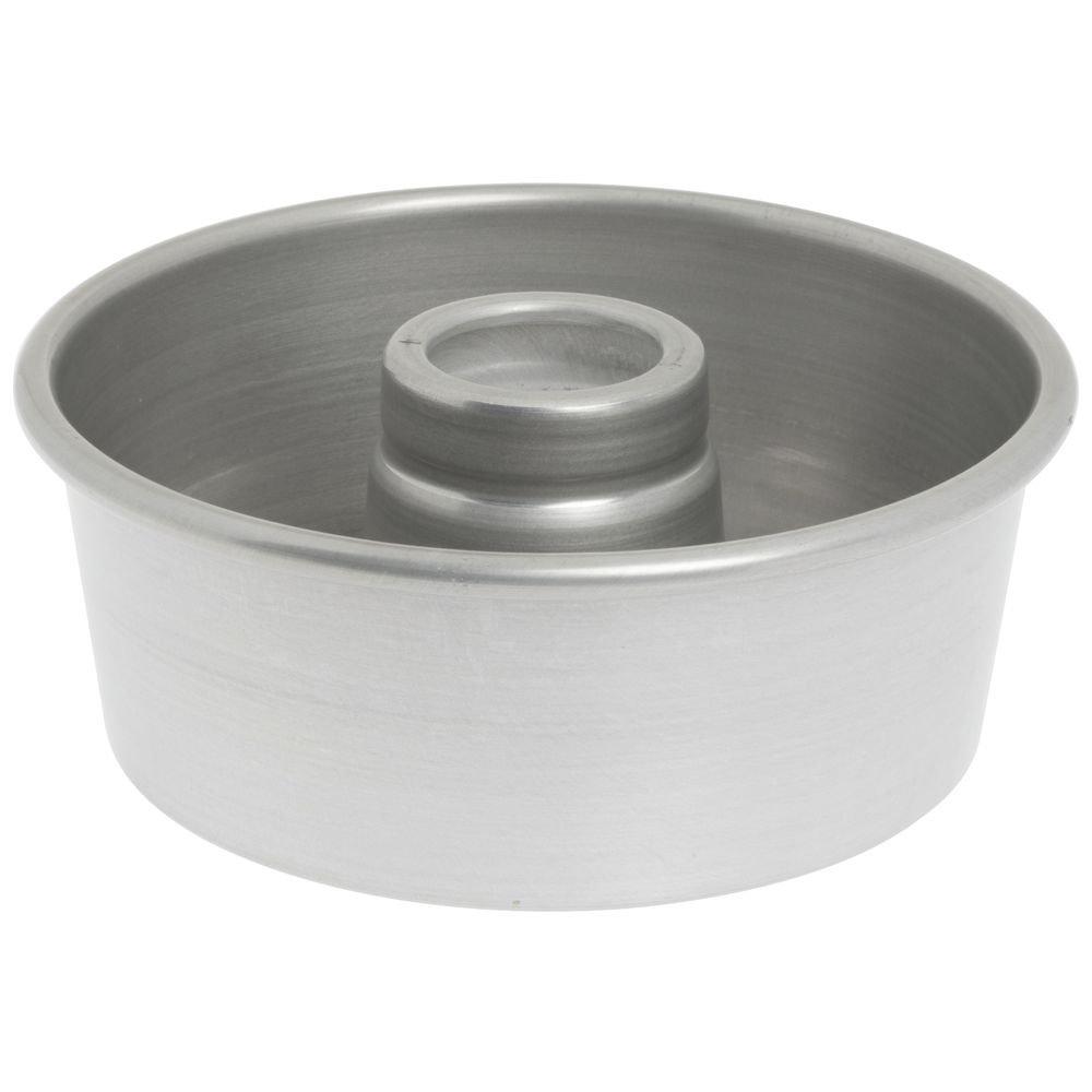 Bundy Chicago Metallic Aluminum Angel Food Cake Pan with AMERICOAT Glaze - 7 1/2'' Dia x 3 1/16'' D
