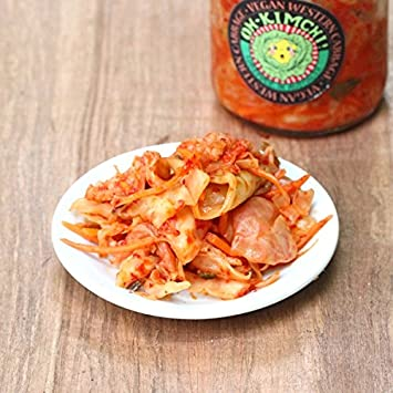 Premium Artisanal Gluten Free Kimchi (two 16 oz jars), Chemical/Pesticide Free