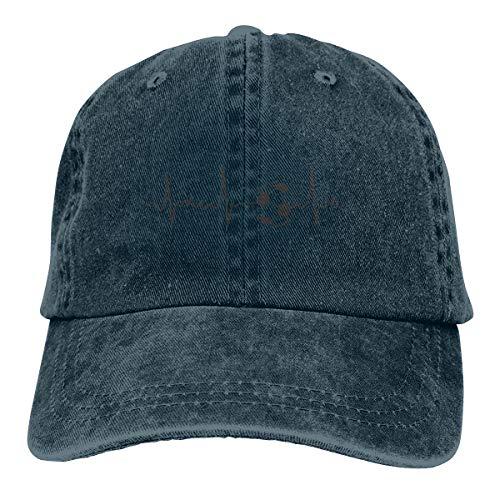 Heartbeat Football Denim Hat Adjustable Plain Cap Baseball Caps