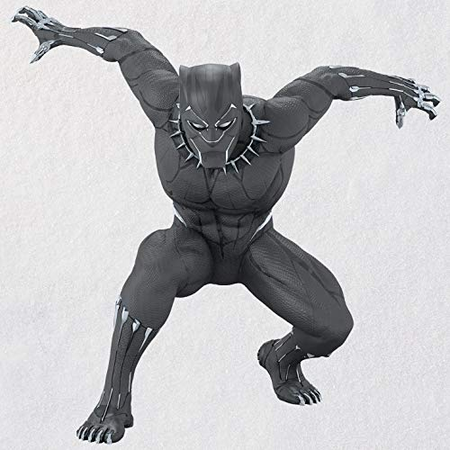 Hallmark Keepsake Christmas Ornament 2018 Year Dated, Marvel Legends Avengers Black Panther Figure Black Christmas Holiday Ornaments