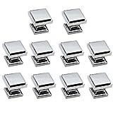 10 Pack - Aviano Cabinet Hardware Modern Zane Square Knob - 1-1/8'' - Chrome