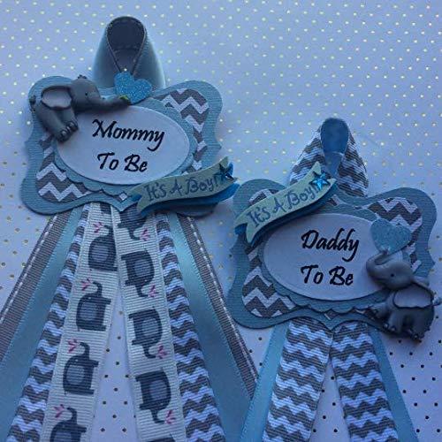 Elephant Theme Baby Shower Corsage, Personalized Baby Shower Corsage, Add a Guest - Guest Pin