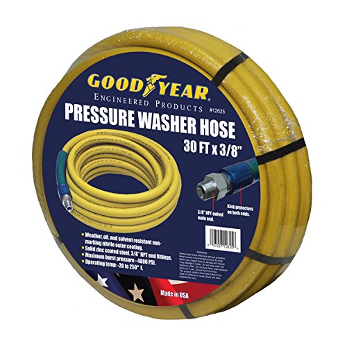 - Goodyear Nonmarking Pressure Washer Hose - 4000 PSI, 30ft.L x 3/8in., Model# 12625