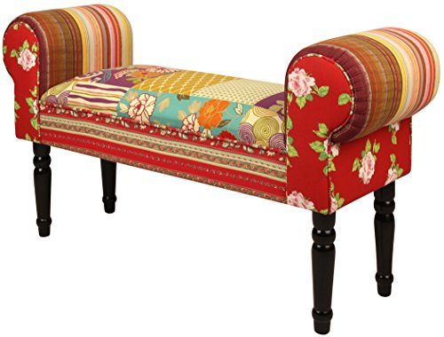 Lux Home Patchwork Bench, Floral Pattern