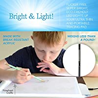 Super Thin Pad with Ultra Bright LED Light Pinwheel Crafts Light Up Tracing Pad