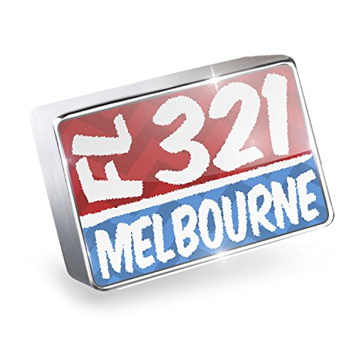 Floating Charm 321 Melbourne, FL red/blue Fits Glass Lockets, - Glass Melbourne Fl