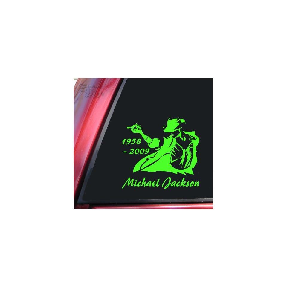 Michael Jackson 1958   2009 Vinyl Decal Sticker   Lime Green