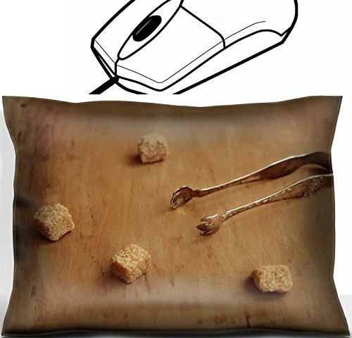 Mouse Plated Silver Computer (MSD Mouse Wrist Rest Office Decor Wrist Supporter Pillow design 30179406 Vintage silver plated sugar tongs and pieces of cane sugar over aged brown background)