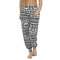 Love My Fashions Womens Pants Trousers Alibaba Harem Printed Ladies Baggy Elasticated Waist Ankle Cuff Hareem Plus Size S M L XL XXL XXXL