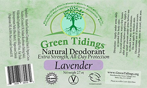 Green Tidings Organic All Natural Deodorant Unscented   Ounces