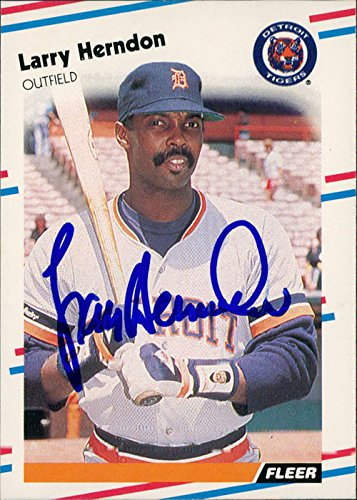Powers Collectibles Signed Herndon, Larry (Detroit Tigers...