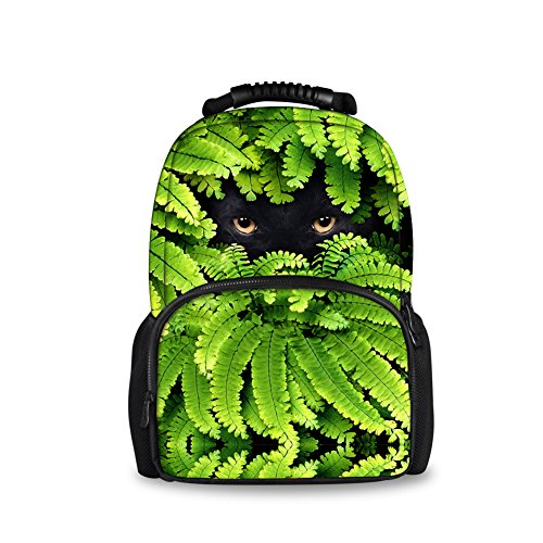 Showudesigns High Capacity Balck Cat Face Outdoor Traveling Backpack Daily - Hipster Preppy Style