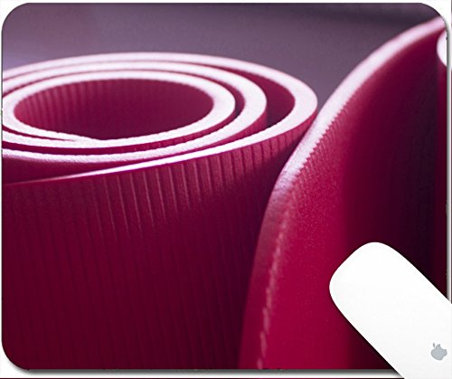 Price comparison product image Luxlady Gaming Mousepad 9.25in X 7.25in IMAGE: 34222327 Red fitness yoga and pilates foam mats in gymnasium Artistic photo