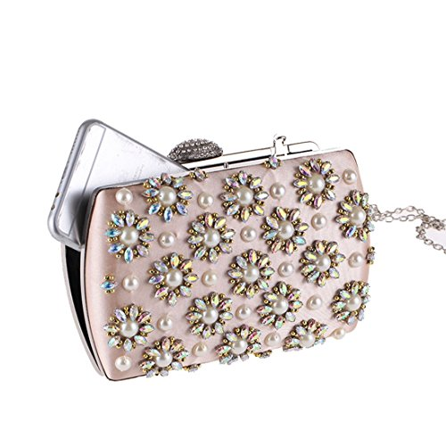 Evening Bag Fashion Carved Bag Hand Bag Bag Bride European Evening Evening Fly Bag Apricot American Diamond Encrusted Cheongsam ERcqZ88aSA