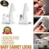 Baby proofing New 12 Pack baby safety child proof drawer Child safety baby proof cabinet Quick and Easy No Tools,cabinet lock White drawer locks childproof drawer locks with 3M( RED) Adhesive,