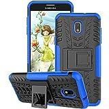 Samsung Galaxy J7 2018 Case, Galaxy J7 Refine Case, Galaxy J7V / J7 V 2018 Case, Galaxy J7 Star Case, GSDCB Phone Case with Kickstand Hard PC and Soft TPU Dual Layer for Women Men Girl Boy (Blue)