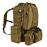 Wakrays 50L Tactical Backpack Outdoor 55L 3D Molle Tactical Military Rucksack Backpack Trekking Bag Camping
