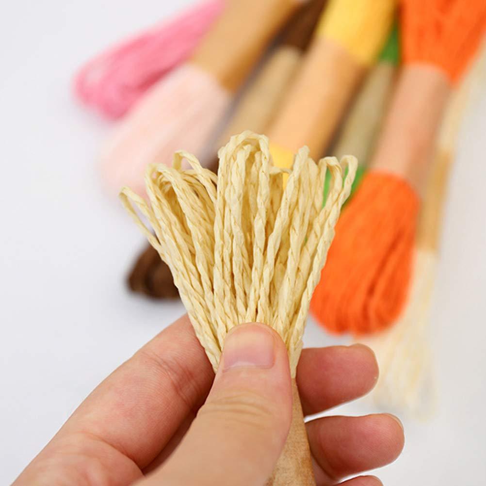 Colore Misto SUPVOX Corda di Carta Corda di Rafia Cordoncino di Artigianato Twisted DIY Corda Colorata 10M 12 PCS