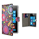 32nd® Design book wallet PU leather case cover for Nokia Lumia 920 + screen protector and cleaning cloth - Jellyfish