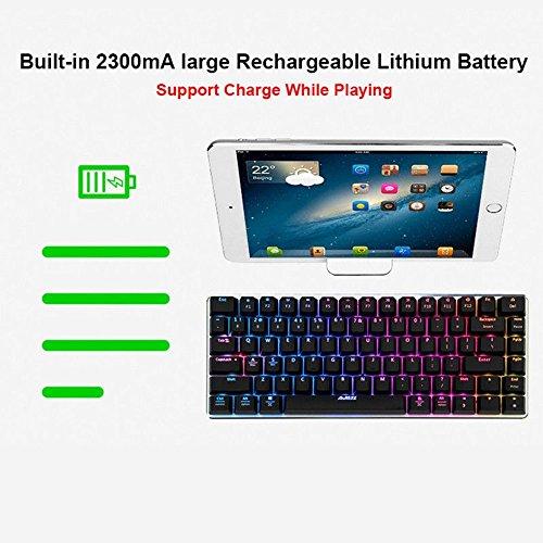 6b27ca4794c 50%OFF LexonElec Wireless and Wired Gaming Keyboard Ajazz AK33 Bluetooth  2.4 GHz RGB LED Backlit 82 Keys Mechanical Pro Gamer Keypad ...