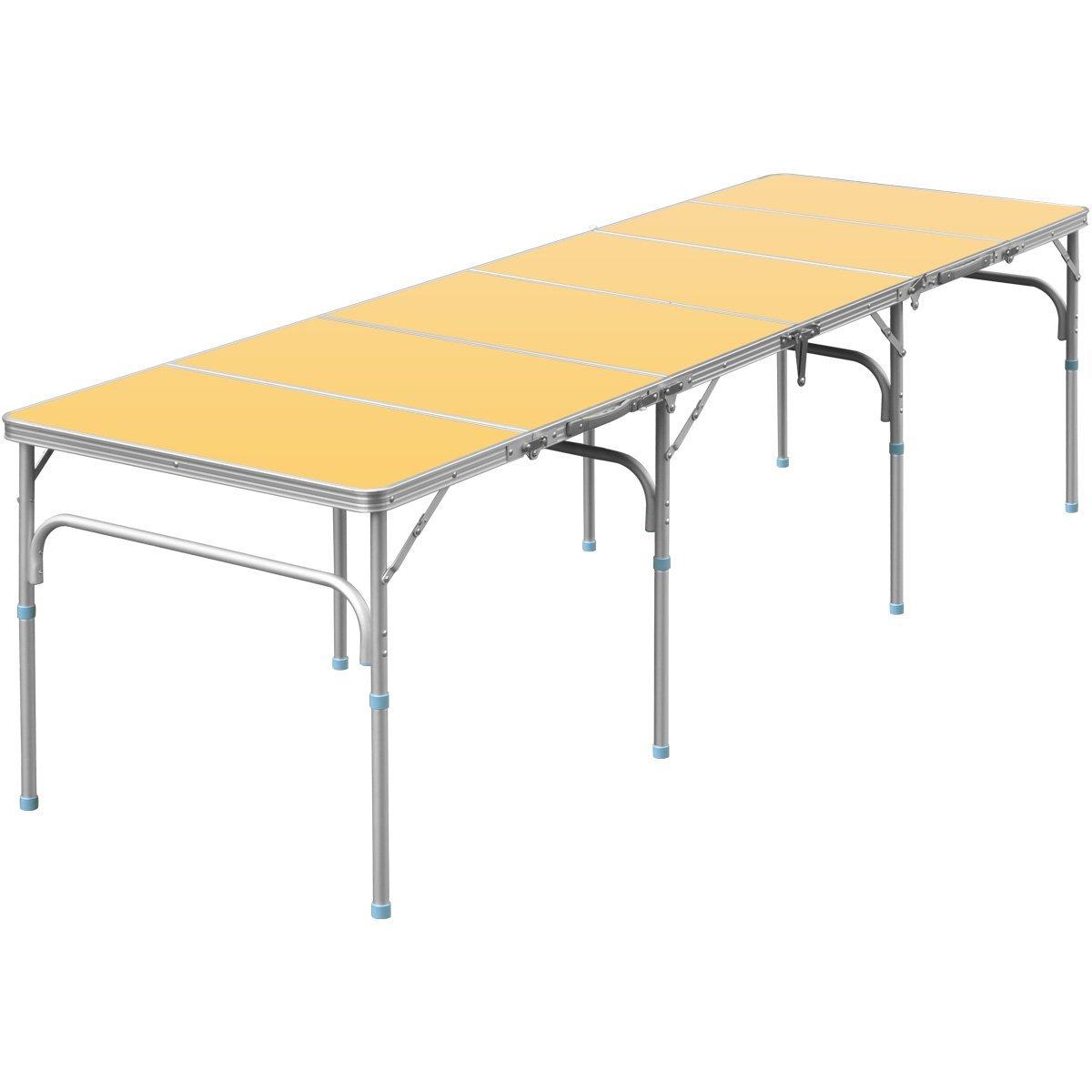 FIELDOOR 六つ折り収納式アルミレジャーテーブル