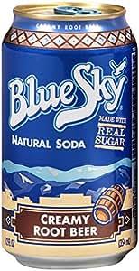 amazon com blue sky natural soda creamy root beer 12