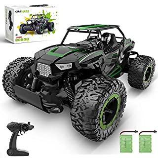BEZGAR 18 Toy Grade 1:14 Scale Remote Control Car, 2WD High Speed 20 Km/h All Terrains Electric Toy Off Road RC Monster Vehicle Truck Crawler with Two Rechargeable Batteries for Boys Kids and Adults