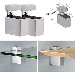 Amazon.com: Dolle Cuadro Stainless Steel Adjustable Shelf