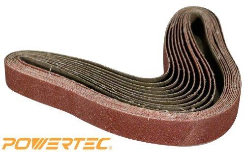 POWERTEC 111370 1-Inch x 30-Inch 400 Grit Aluminum Oxide Sanding Belt, 10-Pack Model: 111370 Tools & Home Improvement