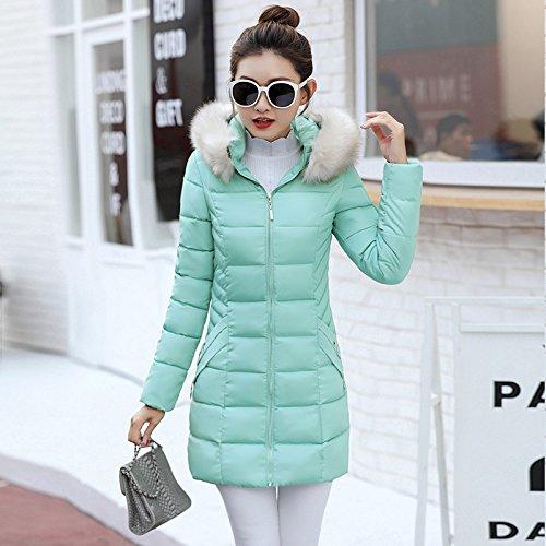 Collar Was Coat Large Jacket Thin The Long Slim Shirt Term In T Fur Winter Blue Lake Xuanku Down 1wqpv6B