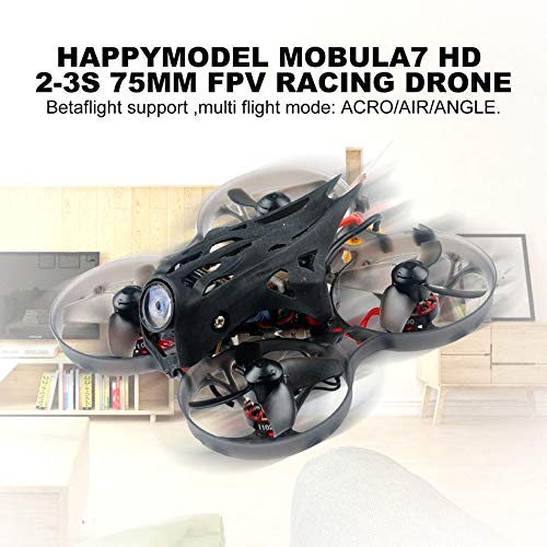 Wikiwand Happymodel Mobula7 HD 2-3S 75mm Whoop FPV Racing Drone Frsky Non-EU Receiver by Wikiwand (Image #2)