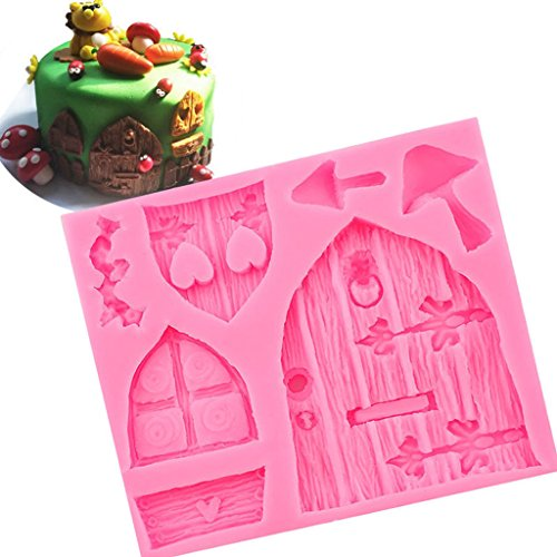 Dovewill 2pcs Silicone Cake Window Door Mould Cupcake Decorating Chocolate Mold Pink by Dovewill (Image #5)