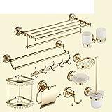 Continental carved gilded suit/Towel rack/Bathroom shelf/Toilet Brush Holder/Gold bathroom accessories/Bathroom Sets-I