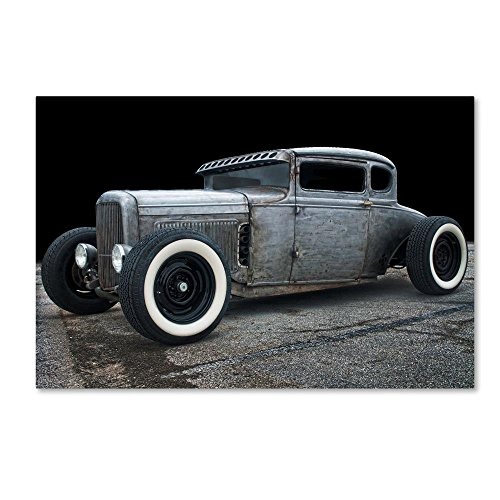 1931 Coupe Rat Rod by Lori Hutchison, 30x47-Inch Canvas Wall Art