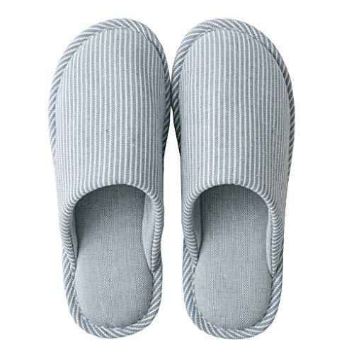 Acmede Uomo Coppie Ciabatte Blu Pantofole Da Chiuse Letto Casa Scarpe Antiscivolo Camera Donna Della rEnrRPqx4