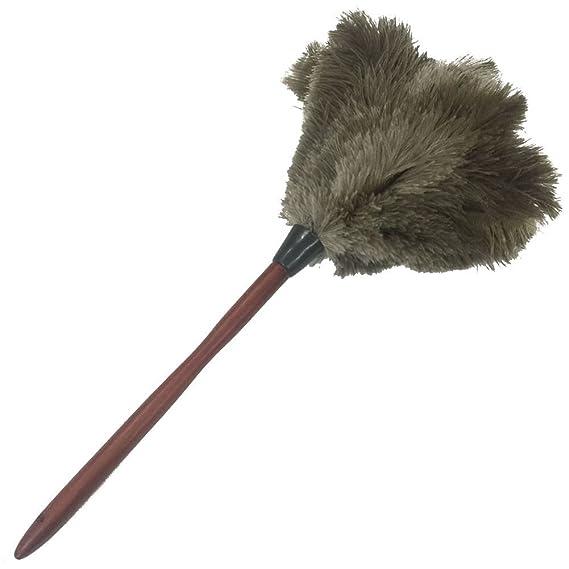 sowder Plenitud Dusters de plumas de avestruz natural con mango de madera dura: Amazon.es: Hogar