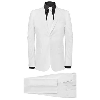 Festnight Traje de Hombre Dos Piezas con Corbata Color Blanco ...
