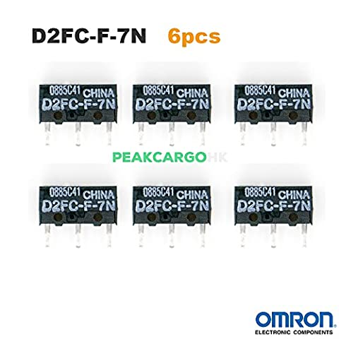 QTY 6 OMRON D2FC-F-7N Micro Switch Microswitch Switches for RAZER Logitech APPLE MS Mouse (Micro Mice)