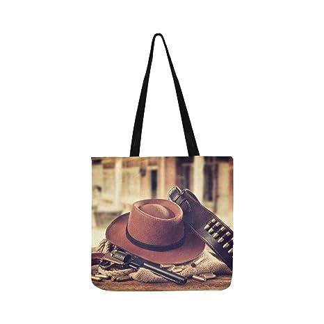 Sombrero de vaquero y bufanda Salvaje oeste lienzo bolso ...